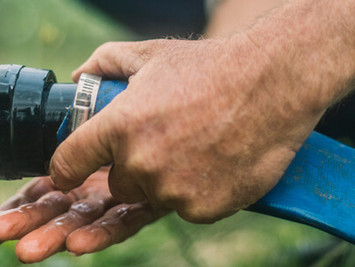 Watering based on real-time measurements in the pipeline