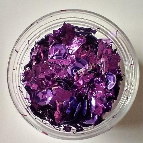 Violet Foil w/ Sequins