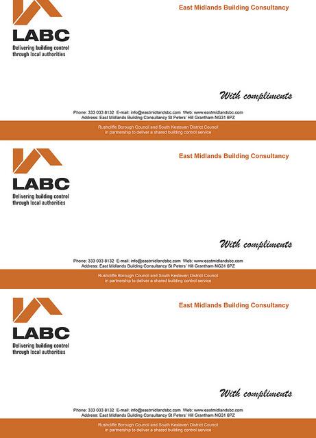 Compliment slips LABC