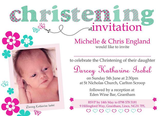 Christening invite