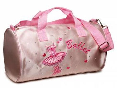 Pink Satin Ballerina Ballet Bag