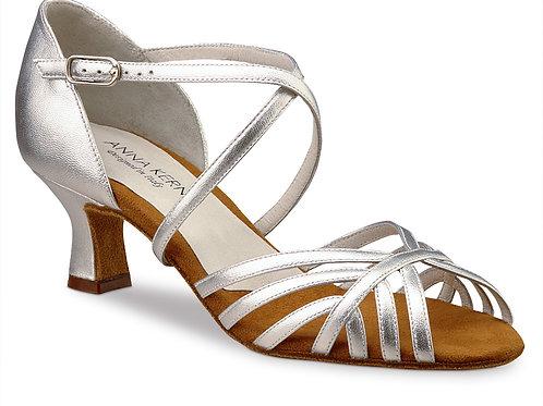 Anna Kern 5cm Nappa Silver Dance Shoe