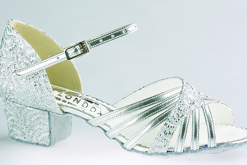 "Freed of London Silver Sparkle 2"" Heel"