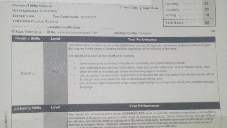 Buy TOEFL Certificate