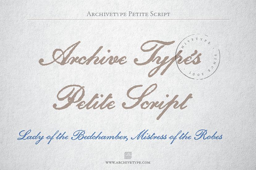 Archive Petite Script