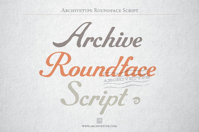 Archive Roundface Script