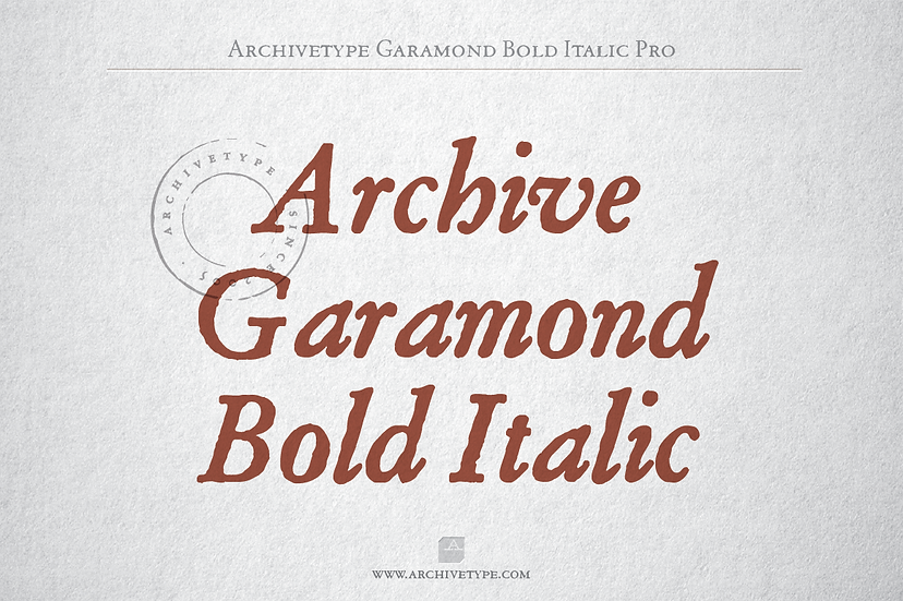 Archive Garamond Bold Italic Pro