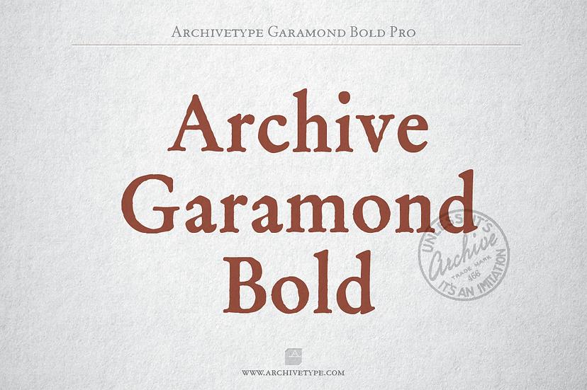 Archive Garamond Bold Pro