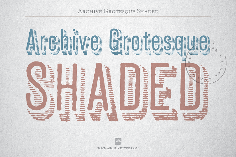 Archive Grotesque Shaded