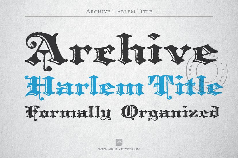 Archive Harlem Title