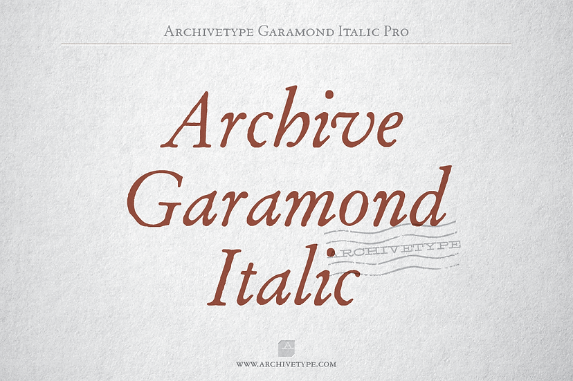 Archive Garamond Italic Pro