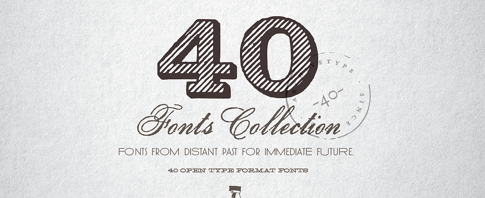 40 Fonts Collection