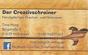Timo Haag Der Creativschreiner Logo