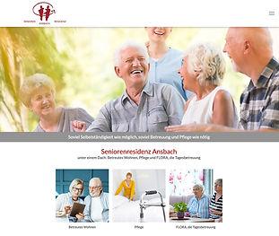 Bild Website Seniorenresidenz Ansbach