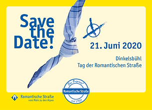 Save the Date-Karte Romantische Straße