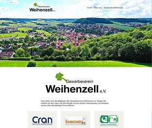 Bild Website Gewerbeverein Weihenzell