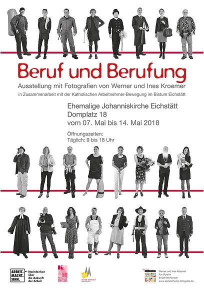 Plakat Wanderausstellung Beruf & Berufung