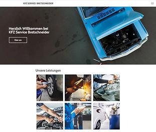 Bild Website KFZ Service Bretschneider