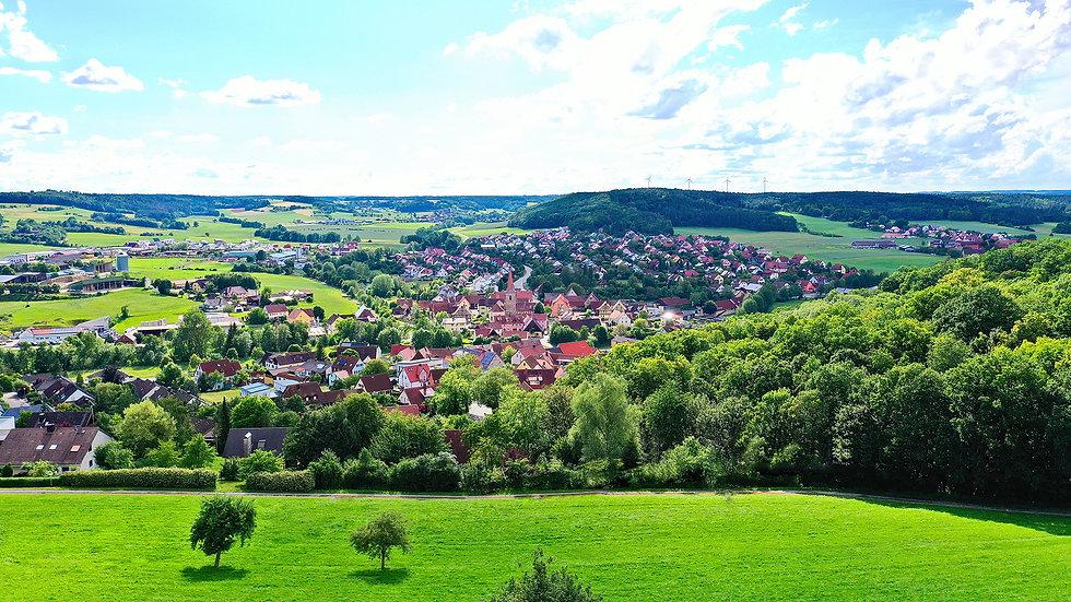 Panorama Weihenzell von Osten