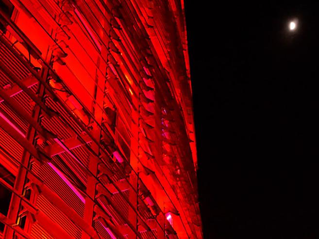 Torre Agbar Nacht Barcelona