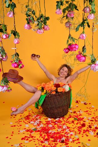 Fotoshooting Heike Blumenkorb