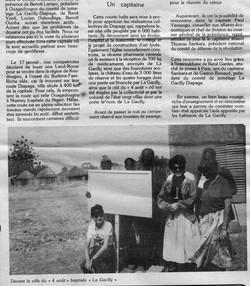 coupure de presse  1 juillet 1986