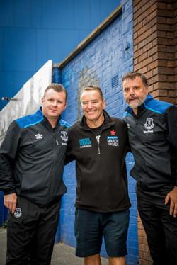Jeff Stelling at Everton FC