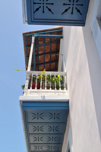 Blue balconies