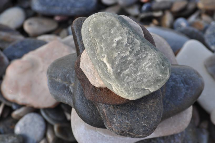 Top view stones
