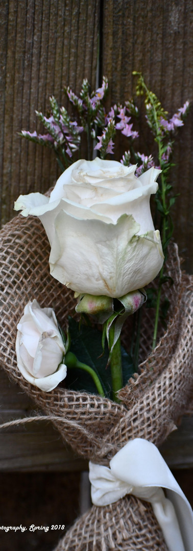 Single rose beautifully wrapped...a cute gesture to make someone smile :)