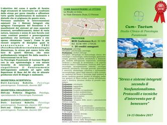 """ECM (20 crediti): """"Stress e Sistemi Integrati secondo il Neofunzionalismo"""" 14-15 Ottobre 2"""