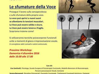 """05/02/2017 WORKSHOP: """"Le Sfumature della voce"""""""