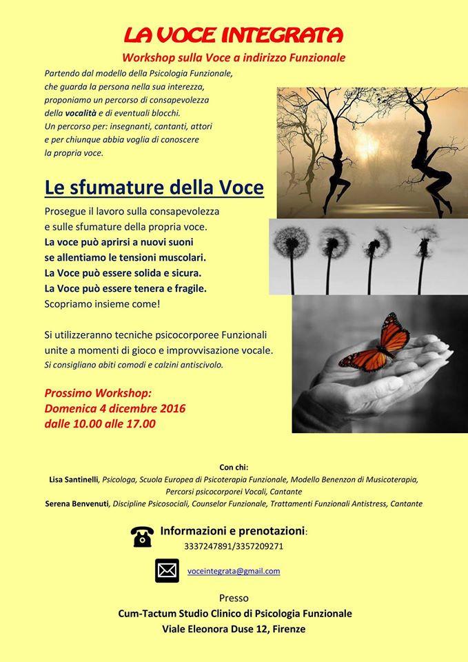 Voce Integrata Psicologia Funzionale Firenze Sfumature della voce