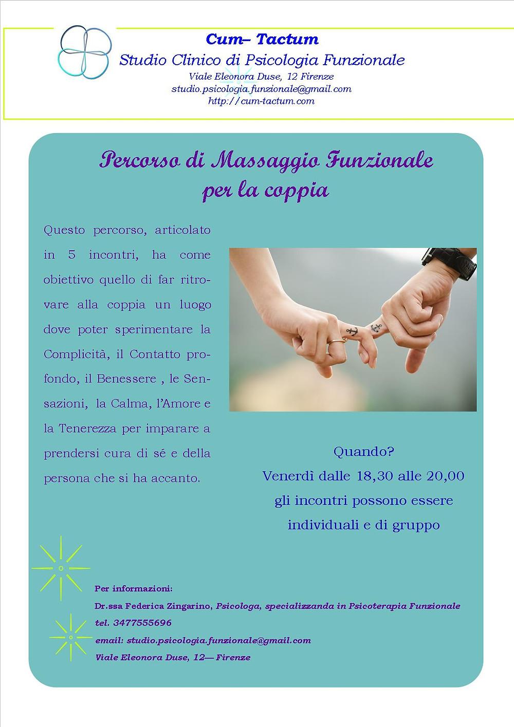Massaggio Funzionale Coppia Psicologia Funzionale Firenze Psicologo Zingarino