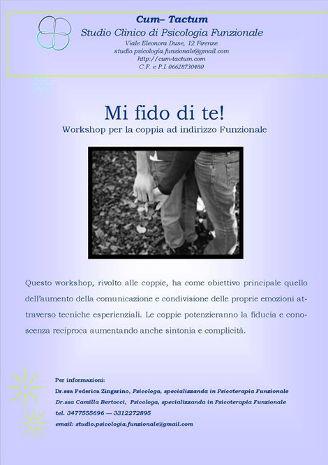 "WORKSHOP ""Mi fido di te!"""