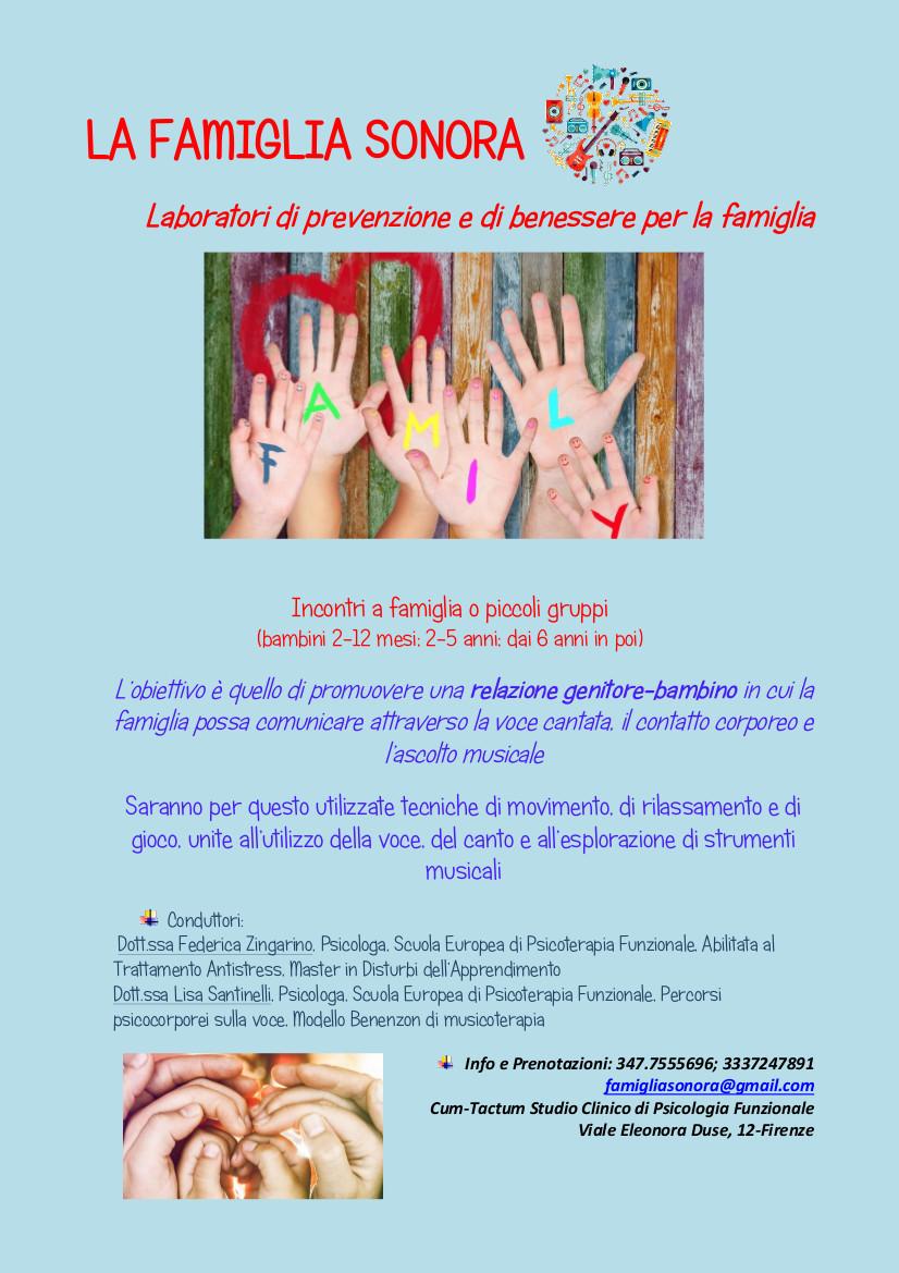 La Famiglia Sonora Santinelli Zingarino Cum-Tactum Psicologia Funzionale Firenze