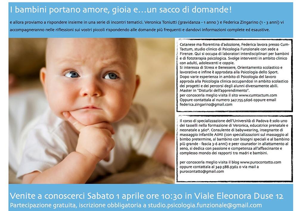 Bambni portano gioia Federica Zingarino Veronica Toniutti