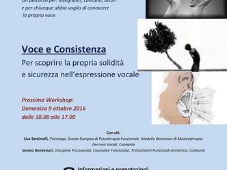 """WORKSHOP: """"Voce e consistenza"""""""