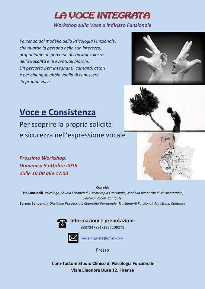 Voce e Consistenza Psicologia Funzionale Firenze Benvenuti Santinelli
