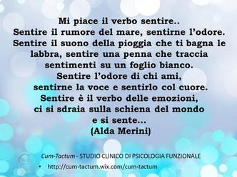 """""""Sentire"""" di A. Merini"""