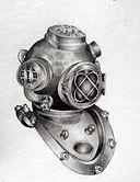Sketch of Diving Helmet