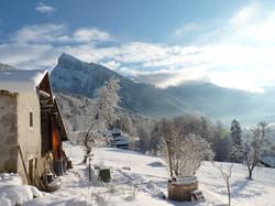 Dojo de la Piaz en hiver