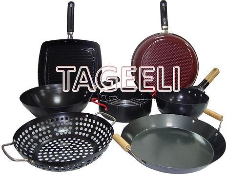 fry pans and sauce pans