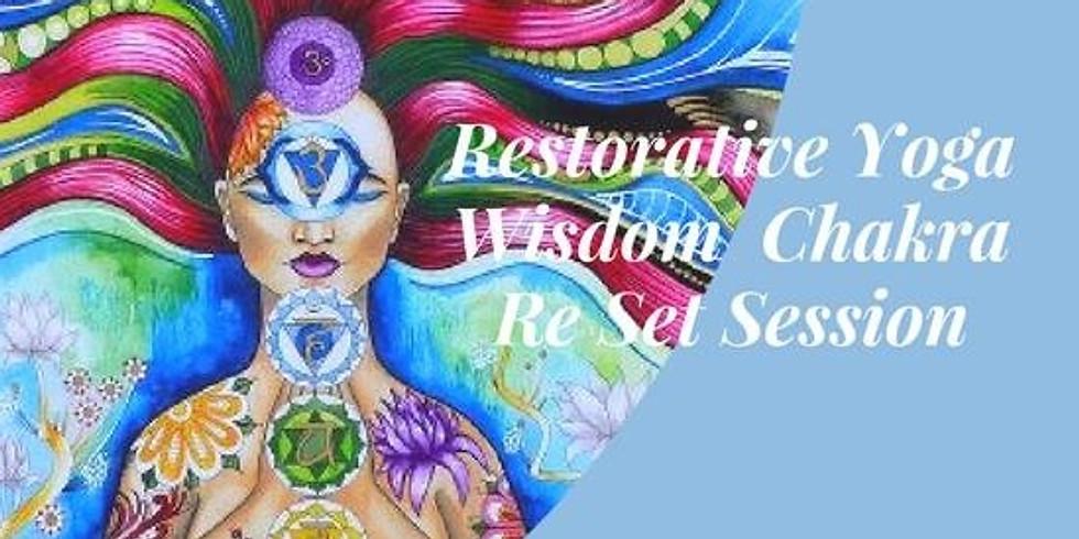 SOLD OUT - Restorative Wisdom Sunday Session - Chakra Balance