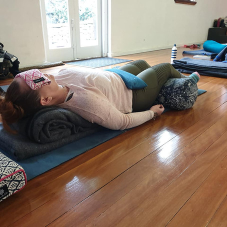 The Yoga Guru's of Touch...using gentle weights in Yoga
