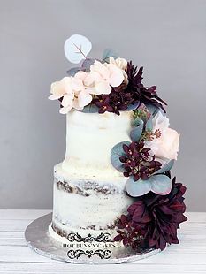 NAKED TWO TIER CAKE