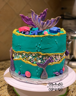 Mermaid Themed Cake 8""