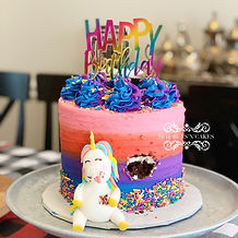 Lazy unicorn cake