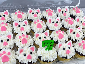 KITTY CAT CUPCAKES PAW PRINTS