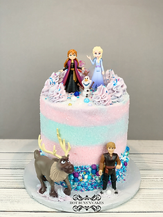 Frozen themed birthday cake sprinkle cake